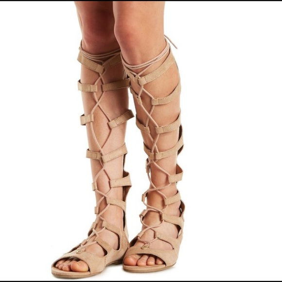 f4c3ef3372b Charlotte Russe Shoes - Charlotte Russe knee high gladiator sandals size 9